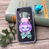 we're all mad here cheshire cat iphone case
