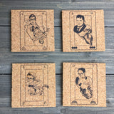 Superheroes Cork Coaster Set of 4