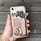 fox and sour grapes phone case