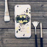 Bat Symbol Spray Paint iPhone Case