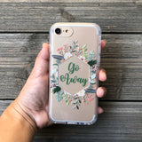 Go Away Floral iPhone Case