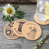 Dr Who Themed Cork Coaster Set of 4