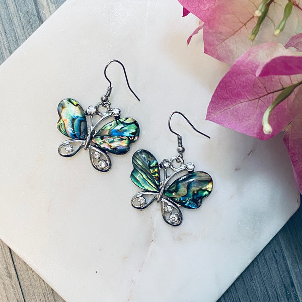 Butterfly Abalone Shell Earrings