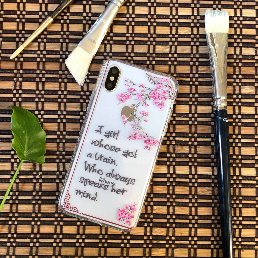 Girl With a Brain iPhone Case