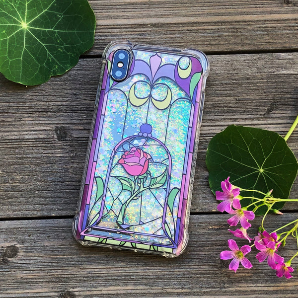 Enchanted Rose Iridescent Confetti iPhone Case