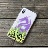 Dragon and Green Flames iPhone Case