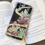 rabbit and turtle iphone case