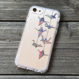 Origami Cranes Washi iPhone Case