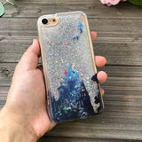 iphone 6 case silver glitter atlantis mermaid