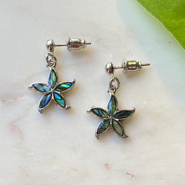 Star Flower Dangle Earrings