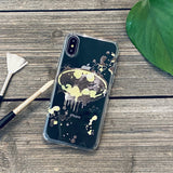 splatter paint bat symbol phone case