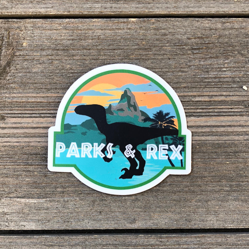Parks and Rex Vinyl Sticker