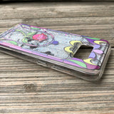 samsung silver glitter case stained glass