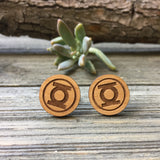 Green Lantern Wooden Cufflinks