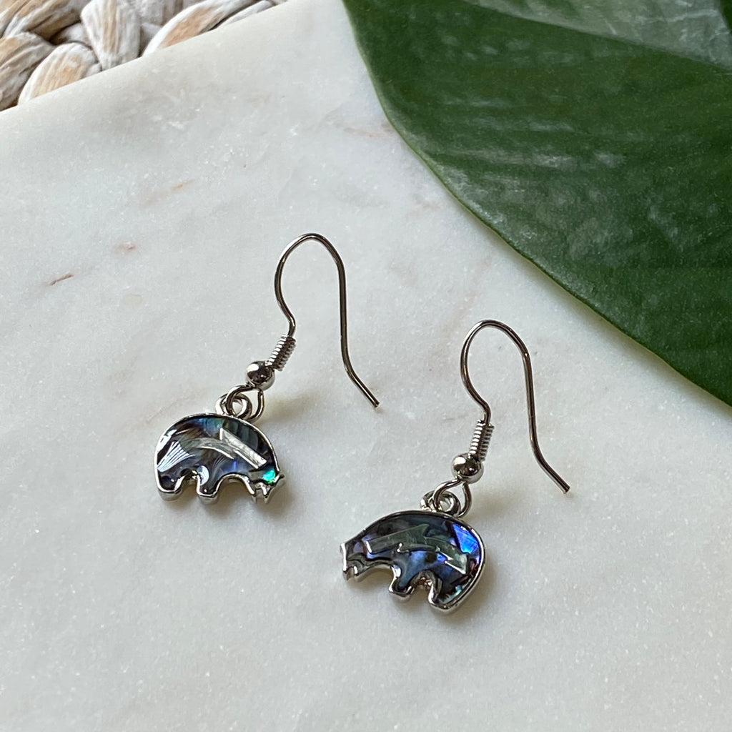 Lucky Elephant Abalone Earrings