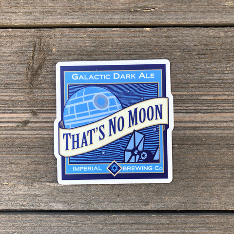 That's No Moon Vinyl Sticker