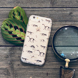 dinosaur fossil patterns phone case