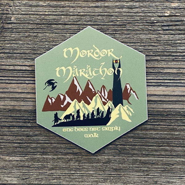 lord of the rings mordor marathon sticker