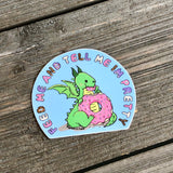 dragon and donut vinyl sticker