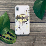 splatter art bat symbol phone case