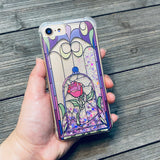 Enchanted Rose Pink and Iridescent Confetti iPhone Case