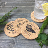 Winchesters Cork Coaster Set of 4