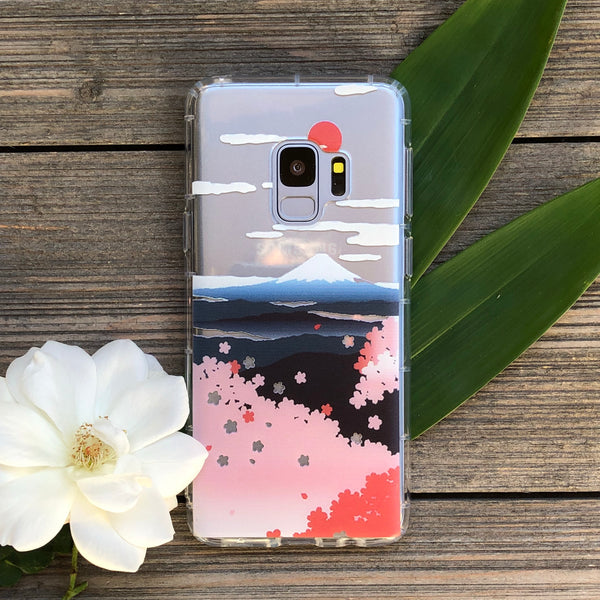Sakura Blossoms and Mt Fuji Samsung Galaxy Case