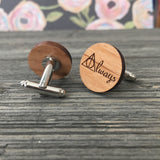 Always Wooden Cufflinks