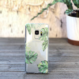 Monstera Foliage Leaves Samsung Galaxy Case