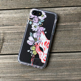 Kitsune Mask and Flowers iPhone Case