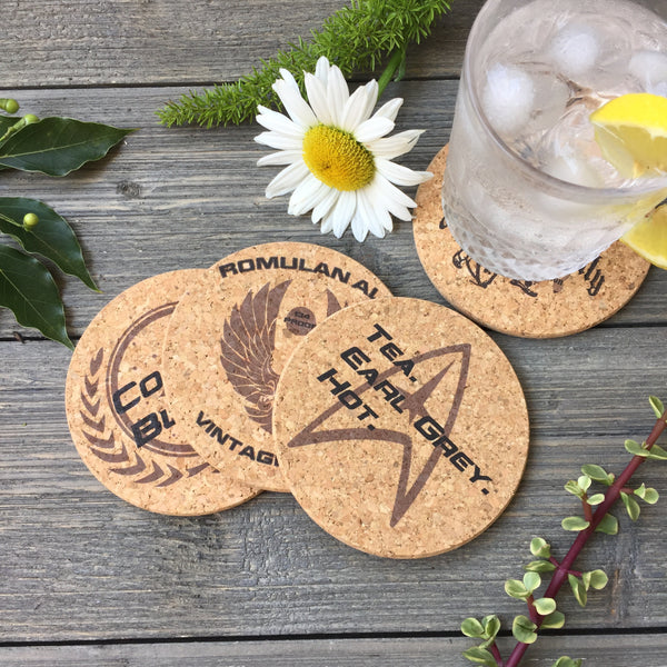 Star Trek Themed Cork Coaster Set of 4