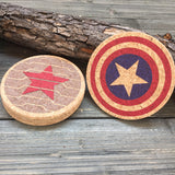 Winter Soldier Inspired Cork Coaster Set of 4