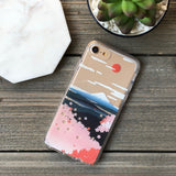mount fuji and cherry blossoms phone case