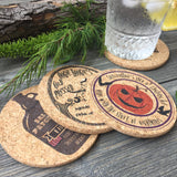 Halloween Town Themed Cork Coaster Set of 4