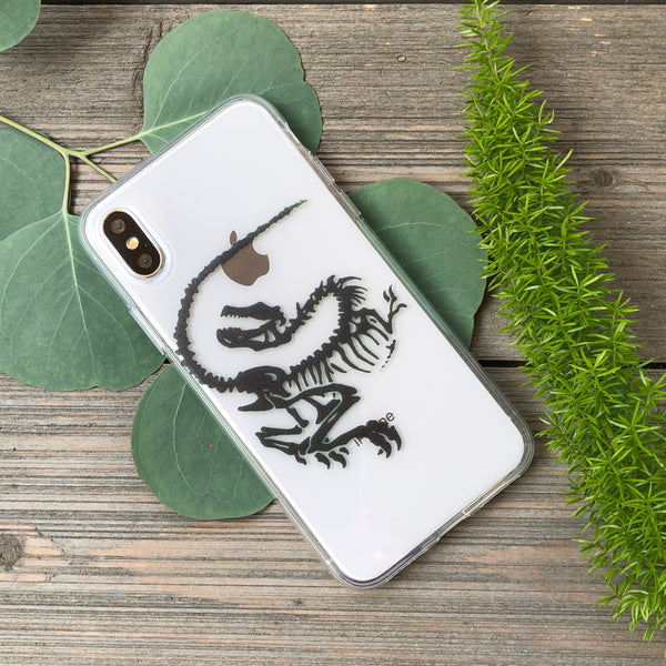 iPhone Velociraptor case (black)
