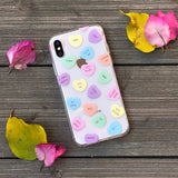 salty candy hearts pattern phone case