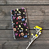 burger family pattern phone case