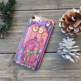 pink glitter iphone case magic rose