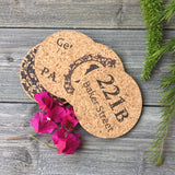 Sherlock Themed Cork Coaster Set of 4 (Version 2)