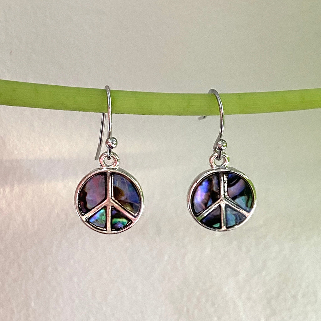Peace Sign Dangle Earrings