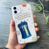 blue police box doctor who phone case