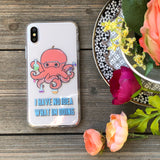 science humor octopus phone case