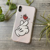 kpop finger hearts phone case