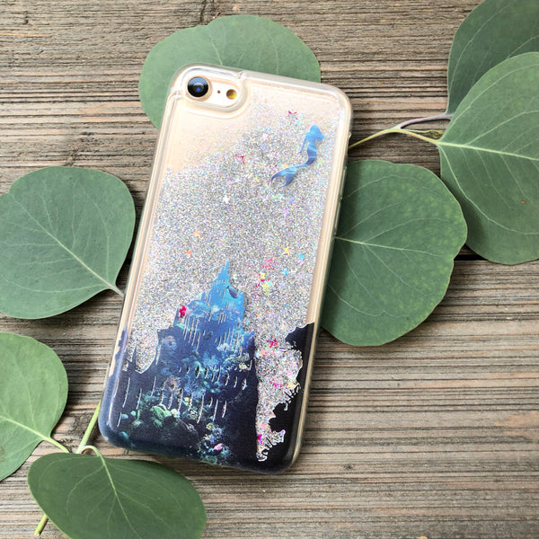 silver glitter iphone 8 mermaid case