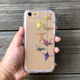 Origami Cranes Rainbow iPhone Case