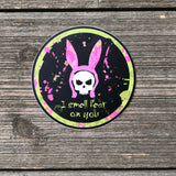 I smell fear bunny ears vinyl sticker