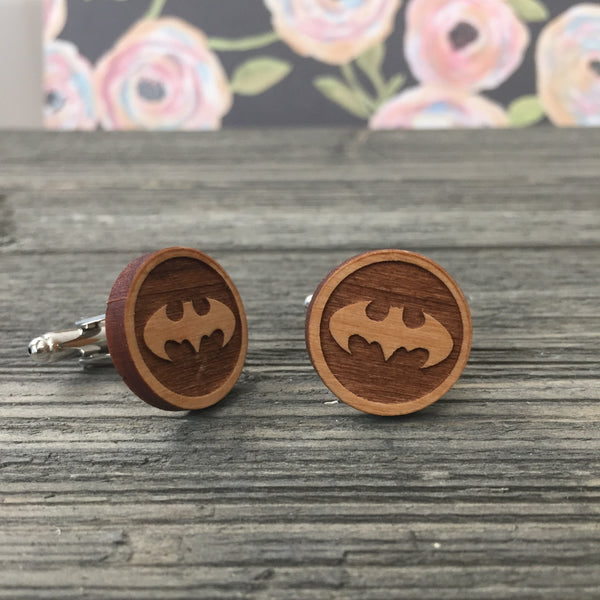 Batman Wooden Cufflinks