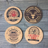 Game of Thrones Inspired Pub Style Cork Coaster Set of 4 (Round)