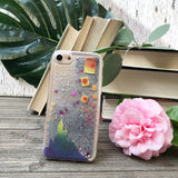 Floating Lanterns Silver Glitter iPhone Case