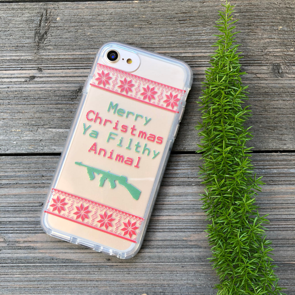 iPhone Merry Christmas Ya Filthy Animal Case